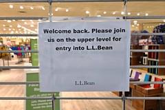 Entrance closed at L.L. Bean