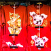 New Year's 2018 Bangkok, Thailand on Yaowarat Rd: dragon and dog shirts on sale for the holidays. 609a
