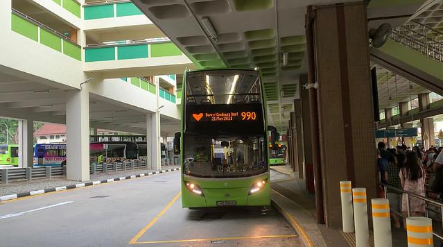 Tower Transit Singapore - Alexander Dennis Enviro500 MMC (Batch 1) SMB3504D on 990