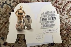 It's my nephews birthday and I'm going to see him. He loves ❤️ #StarWars so I bought him this cool #birthdayCard