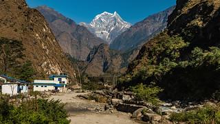 Nilgiri South From Tatopani, Mustang, Nepal.