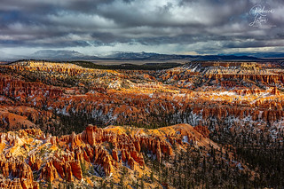 Stormclouds, Shadows And Sunlight At Bryce Point