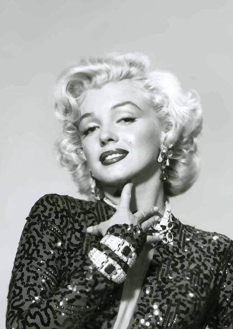 Photo:Fotografía de Marilyn Monroe promocional para caballeros que prefieren rubias By Antonio Marín Segovia