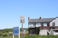 MD 80 EB marker past Urbana Pike