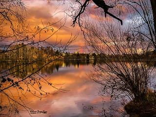 Green Lake Rainbow Sunset