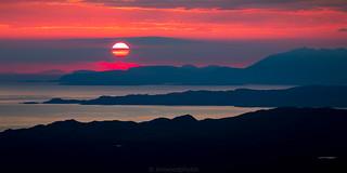 Sunset over the Skye