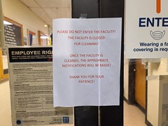 Building is closed for cleaning