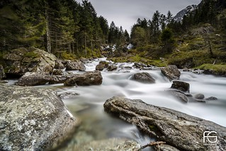 Waterfalls in Cauterets national park
