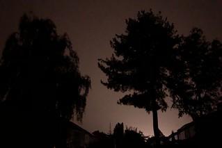 Blitz, Donner und Starkregen