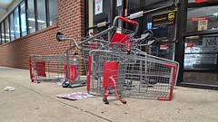 Overturned shopping carts in front of CVS [02]