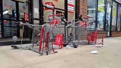 Overturned shopping carts in front of CVS [01]
