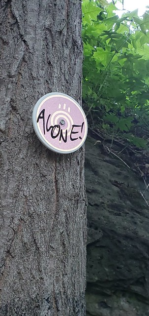 Photo:trail marker indicating existential realities By giulia.forsythe