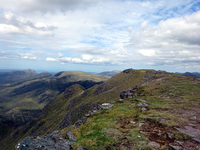 Photo:Looking towards the main summit from the south summit By markhorrell