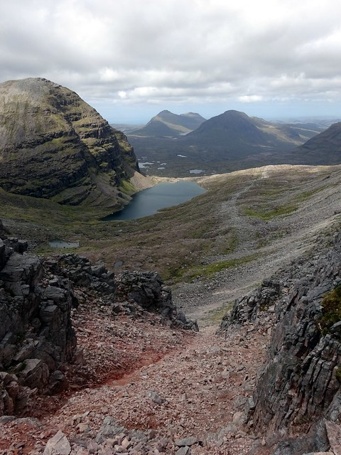 Photo:Looking down the scree slope into Coire Mhic Fhearchair By markhorrell
