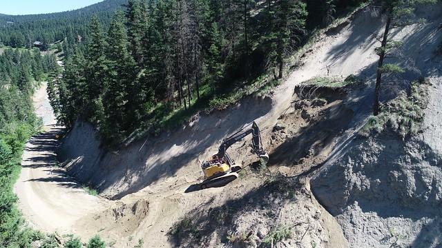 Photo:Repairs Begin at Williams Lake Cutoff By TranBC