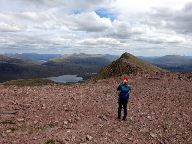 Photo:Looking east from below the summit of Slioch By markhorrell