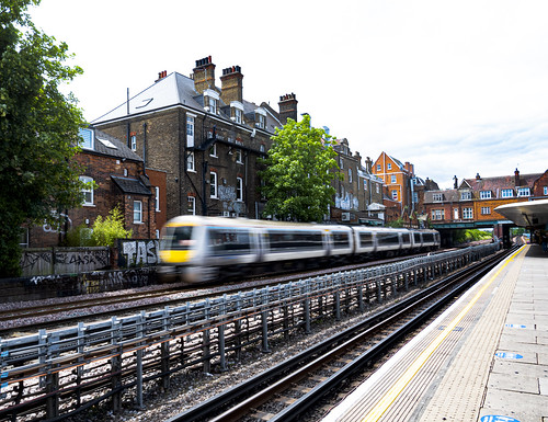 Chiltern Line Train Passes West Hampstead Tube Station
