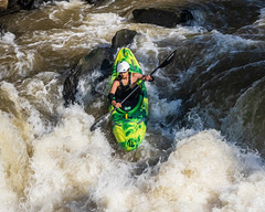 Kayaker plunges into the