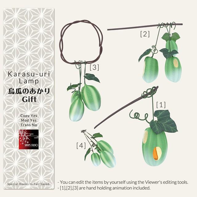 Photo:Karasu-Uri Lamp Gift in Japonica2021 coming soon By sakka Flow