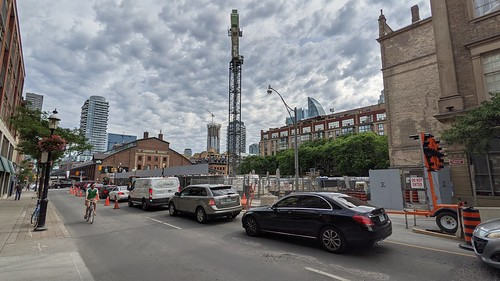 Construction, north St Lawrence market, 2021 06 23