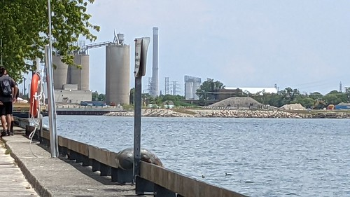 Villiers Island, in Toronto harbour, from Sugar Beach, 2021 07 01