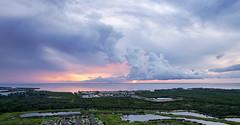 Ruskin Florida Shoreline at Sunset