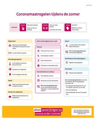 Coronamaatregelen tijdens de zomer