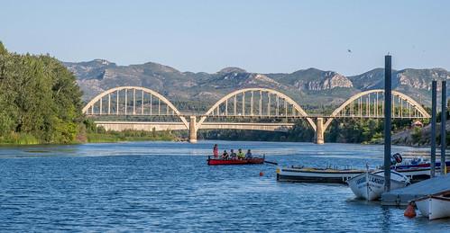 Barques al riu Ebre
