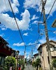 Photo:On the way back from the dentist, I saw a small lizard three times. But I do not know why...    青空 bluesky sky 空 雲 cloud 夏 summer Japanese wirescape wires 電線 電信柱 wire 送電線 powerline Japan 日本 Chibaken 千葉県 ivvaDOTinfo ivva By ivva