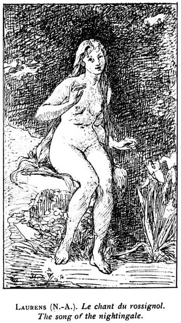 Photo:Nicolas Auguste Laurens (1829-1908) - Le chant du rossignol (1893) (engraving) By ketrin1407