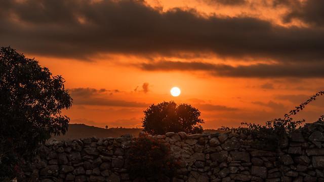 dramatic sunset at Kythera