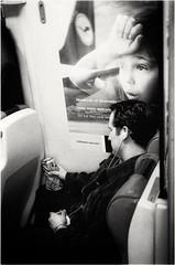 A passenger, Long Island Railroad, Queens, New York City, 2006