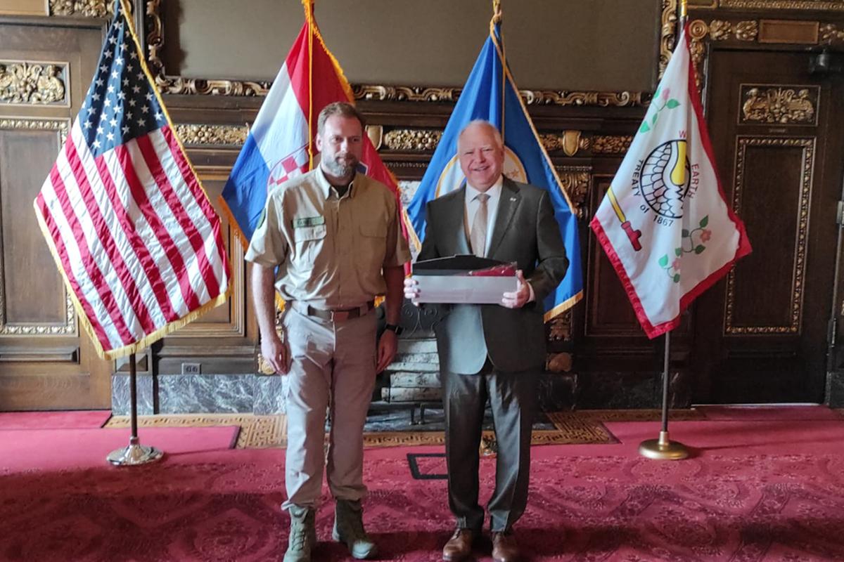 Banožić i Hranj s guvernerom Savezne države Minnesote