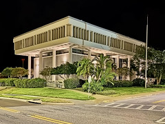 Clearwater City Hall 112 S. Osceola Avenue, Clearwater, Florida, USA / Built: 1966 / Floors: 3 / Exterior Wall: Concrete Block/Stucco / Interior Finish: Dry Wall / Roof Frame: Reinforced Concrete