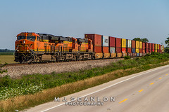 BNSF 3850 | GE ET44C4 | BNSF Thayer South Subdivision