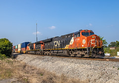 Canadian National CN 3164 (GE ET44AC) Train:Q196 Rialto, Tennessee