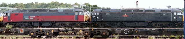 Photo:47 448 and 47 709 Crewe South 270796 By kitmasterbloke