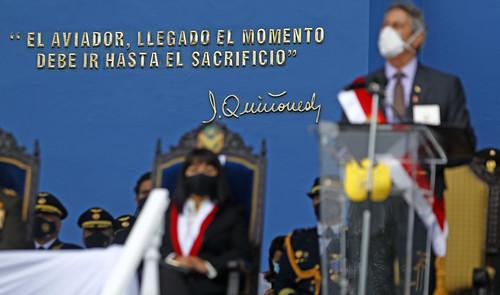El presidente Francisco Sagasti participa en la ceremonia por el Día de la Fuerza Aérea del Perú y 80.° aniversario de la inmolación del héroe nacional capitán FAP José Abelardo Quiñones Gonzáles