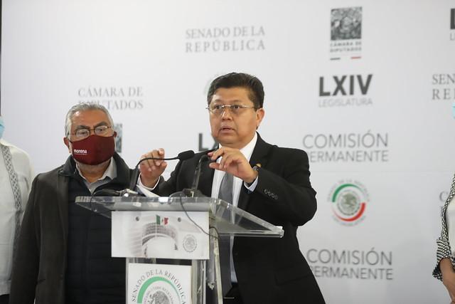 27/07/2021 Conferencia De Prensa Diputados MORENA Sesión Permanente Senado De La República