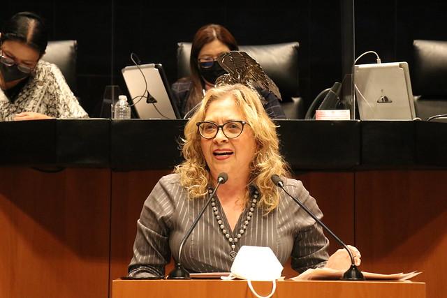27/07/2021 Tribuna Diputada María De Los Ángeles Huerta Sesión Permanente Senado De La República
