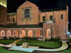 Peace Memorial Presbyterian Church, 110 S Fort Harrison Avenue, Clearwater, Florida, USA / Built: 1921 / Exterior Wall: Concrete Block-Stucco / Architectural Style: Mediterranean Revival