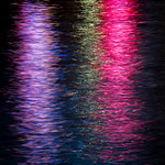 light reflections in the water