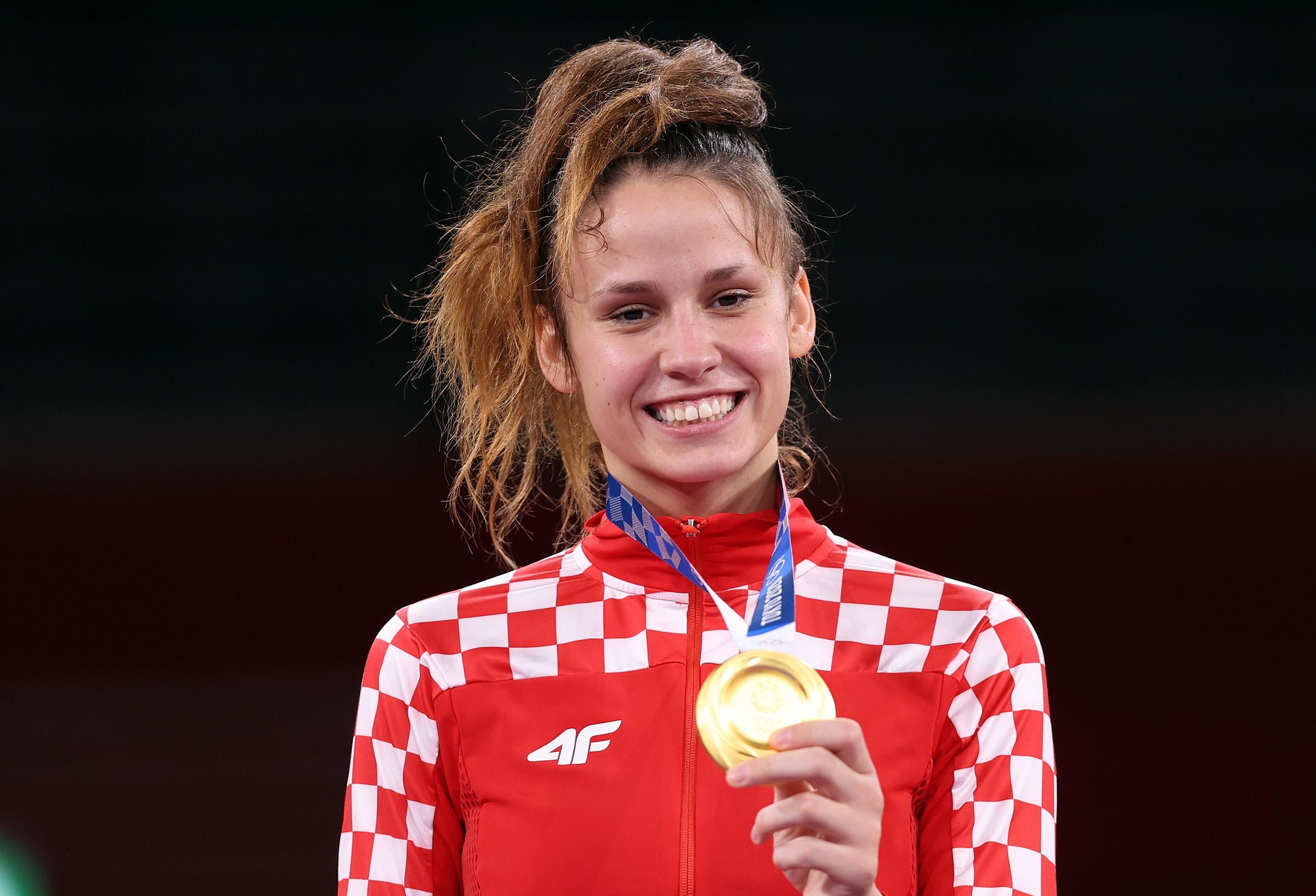 TOKIO 2020: Matea Jelić olimpijska pobjednica - dodjela medalja