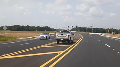 An MDOT truck watches over the now open McIngvale interchange!