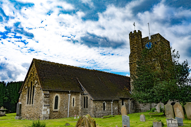 Photo:CHURCH OF ALL SAINTS, HIGH STREET Wouldham Kent Grade 1 Listed By John K Thorne