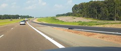 Wide shot of the eastbound on-ramp