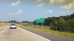 Sign for the new McIngvale exit, westbound 269 off-ramp