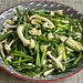 Stir Fried Chives with White Crab Mushroom