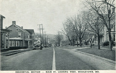 Main Street Looking West, Middletown, Maryland, Postcard, Circa 1930