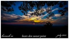 Sunset at Bears Den Viewpoint
